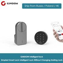 GIMDOW inteligentny zamek do drzwi blokada hasła zawiera hasło dysk elektryczny zamek hotelowy rygiel elektryczny blokada Bluetooth do blokady Airbnb