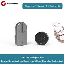 GIMDOW serrure de porte intelligente mot de passe serrure comprend mot de passe disque électrique hôtel serrure électrique boulon serrure Bluetooth pour Airbnb serrure