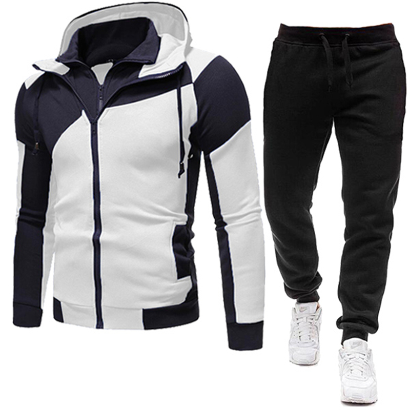 New Brand Men Clothing Sets Tracksuit 2 Piece Sets Hoodies+Pants Men's Sweater Set Sports Suit Streetswear Jackets Free Shipping 1