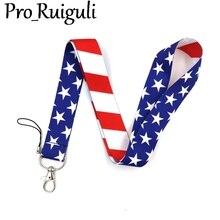 America flag Neck Strap Lanyard keychain Mobile Phone Strap