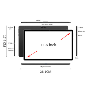 Image 4 - ANRY S20 Android Tablet 11,6 Zoll Touchscreen Tablet PC Deco Core MTK6797T X25 Prozessor Wifi GPS 4G Anruf 13MP Cameral