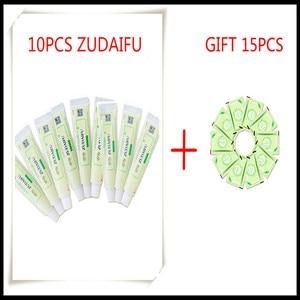 Image 1 - 10pcs zudaifu crema per il corpo senza scatola di vendita al dettaglio delle donne degli uomini di prodotto per la cura della pelle alleviare la Psoriasi Dermatite Eczema Prurito effetto
