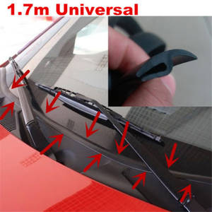 Mgoodoo 1Pc Black 1.8M Car Ageing Rubber Seal Under Front Windshield Panel Sealed Strips Universal