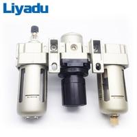 AC4000-04 G1/2 AC4000-06 G3/4 Air source processor Air filter relief valve Sanlian pieces Pneumatic FRL