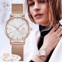 SHENGKE SK Women Watch Top Brand Luxury 2020 Rose Gold