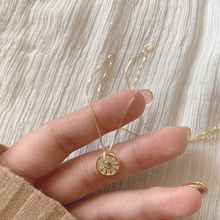 925 Sterling Silver Necklace with Skeleton Round Compass Pendant Zircon Clavicle Chain Necklace For Female Party Gifts