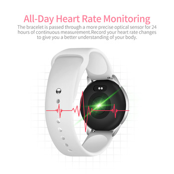 2019 New fashion Woman Sport Smart Watch for Android IOS IPhones Waterproof Touch Screen Sports Health Smart Women's Wristwatch 1