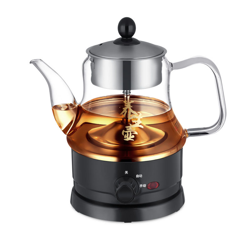 600W Button Type Multi-function Steamer Glass Steam Pot Pu'er Tea Machine Coffee Machine Extraction Health Steaming Teapot