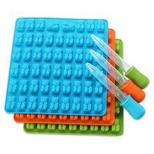 53 Grid Silikon Formen Silikon Form Gummibärchen Form Bär Form Gelee Bär Kuchen Süßigkeiten Trays Mit Dropper Diy Backen zubehör