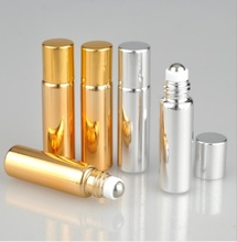 5ML Metal Roller Refillable Bottle Essential Oils Roll-on Glass Perfume Bottles Cosmetics Container Travel lotion Spray Atomizer