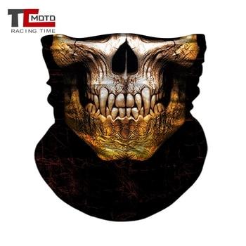Motorcycle Biker Mask Face Shield Balaclava Mask Skull Face Masks Ghost Bandanas Cycling Motorbike Mask Headband Bandana Scarves 3d seamless neck buff bandana face mask camouflage motorcycle ghost skull face halloween bandana scarves