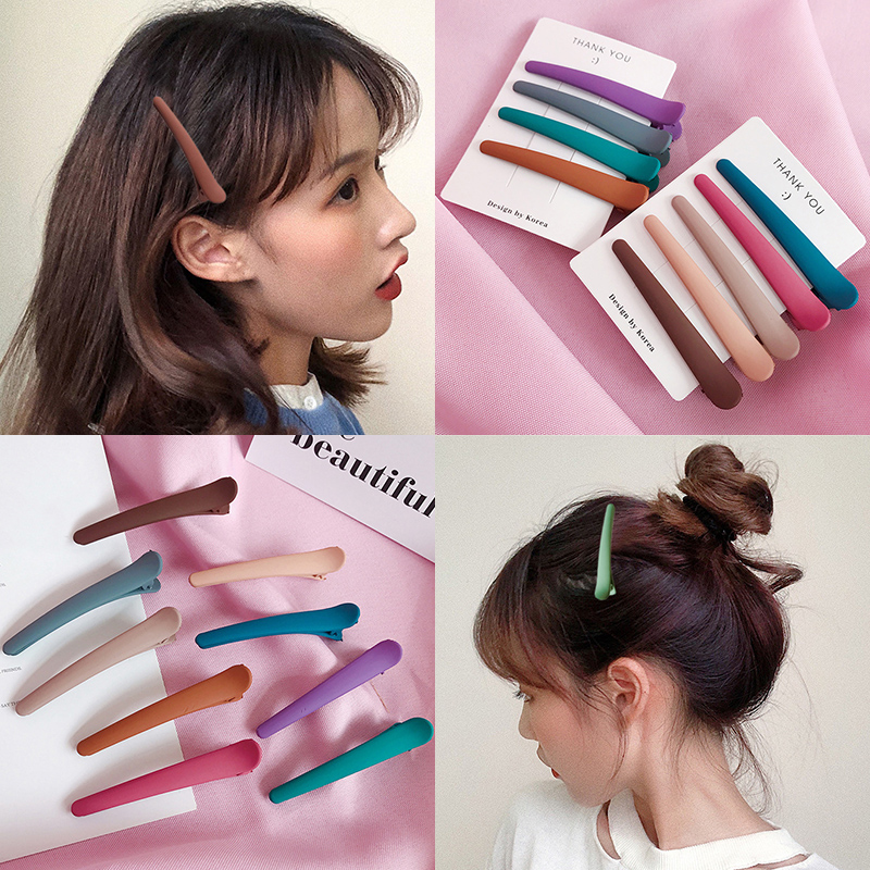 Korean Women Hot Sale Hair Clip Scrub 1PC Hair Accessories Bang Clip Hair Pin Popular High Quality Grils Candy Color