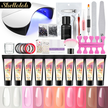 цена Shelloloh 15ml Nail Extension Set Nail Art Manicure Tools Kit For Poly Gel Nail Builder Gel All For Manicure Set онлайн в 2017 году