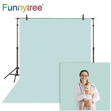 Funnytree 写真背景新年グレーブルーグリーンソリッドカラーベビースタジオフォトスタジオのバックドロップ photophone photocall