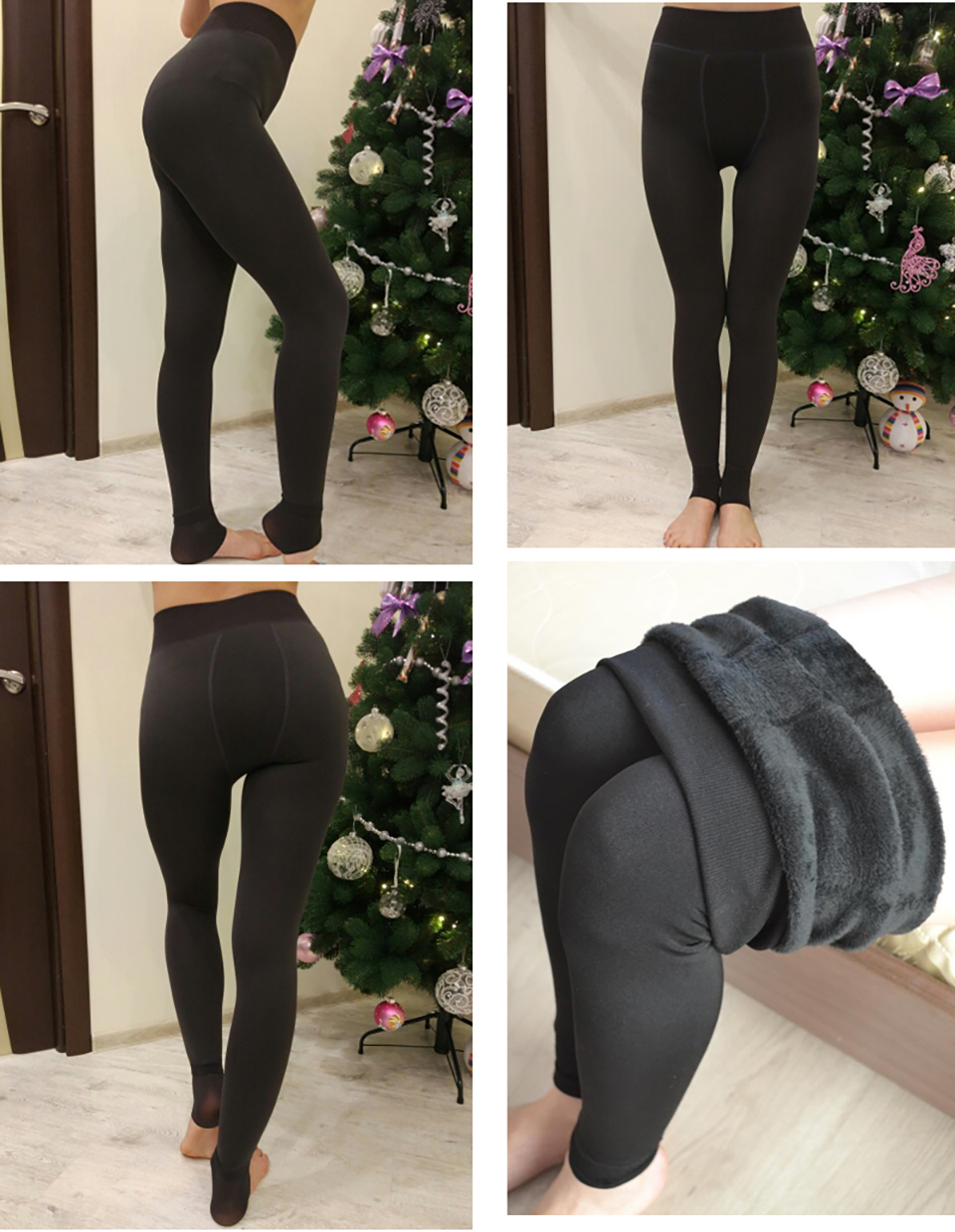 SALSPOR S-3XL Solid Color Women Winter Velet Trousers Female High Elastic Warm Nine pants Ladies Sexy High Waist Slim Leggins 26