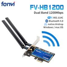 Desktop Dual Band 802.11ac BCM94360 Wireless AC WiFi Bluetooth 4.0 PCI E Adattatore Per Mac/Hackintosh/Finestre