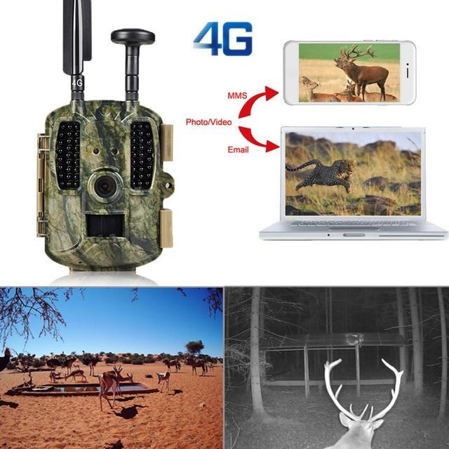 BOBLOV 4G Hunting Trail Cameras with GPS 4G Network Hunter Cameras Trap Photo LTE Wildlife Cameras 12MP GPS Forest Wildlife Cam