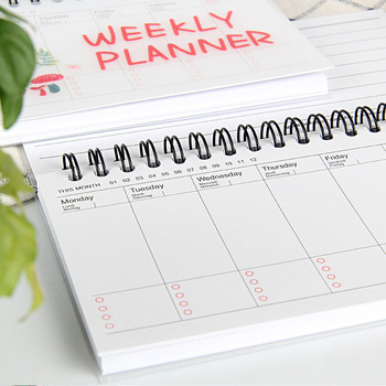 Notebook Portable 2019 2020 Agenda A6 Diary Bullet Journal Weekly Monthly Planner School Supplies Stationary Organizer Schedule 1