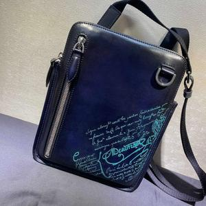Carved leather casual crossbody bags shi