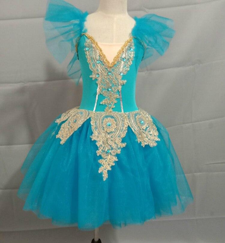 Étincelant longue ballerine robe enfant enfants Style romantique Ballet danse Costume pour femmes filles doux Tulle Tutu gymnastique justaucorps - 6