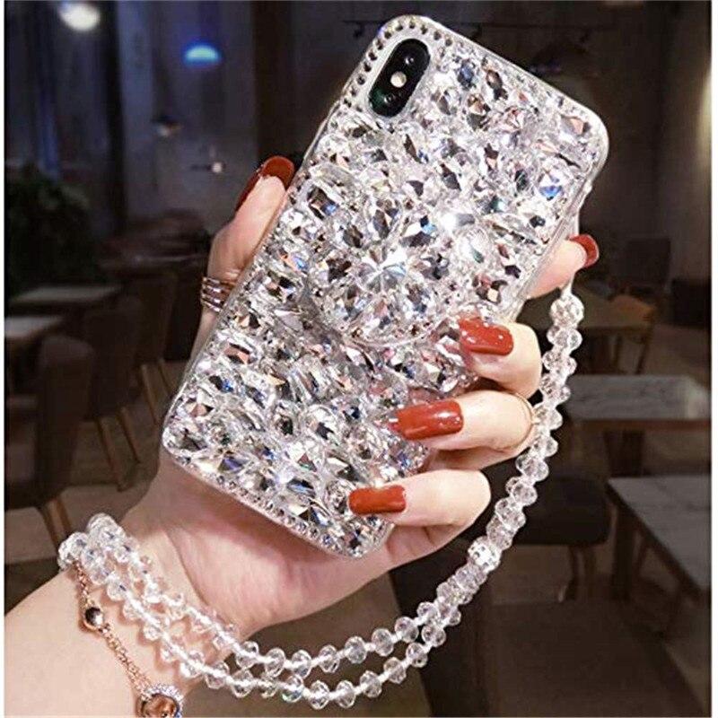 1Pcs 3D Diamond Stand Luxury Bling Sparkle Crystal Strap Glitter Phone Case For LG Stylo 3 Plus/Stylo 4 Q Stylus Plus/Stylo 5