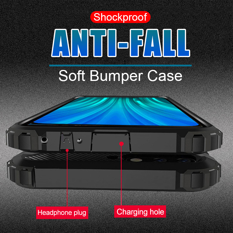 Shockproof Armor <font><b>Case</b></font> For <font><b>Samsung</b></font> Galaxy A7 A9 2018 A6 <font><b>A8</b></font> S9 Plus S8 Note 8 9 J7 <font><b>Duo</b></font> J4 J6 J8 Soft silicone PC hard Cover Bumper image