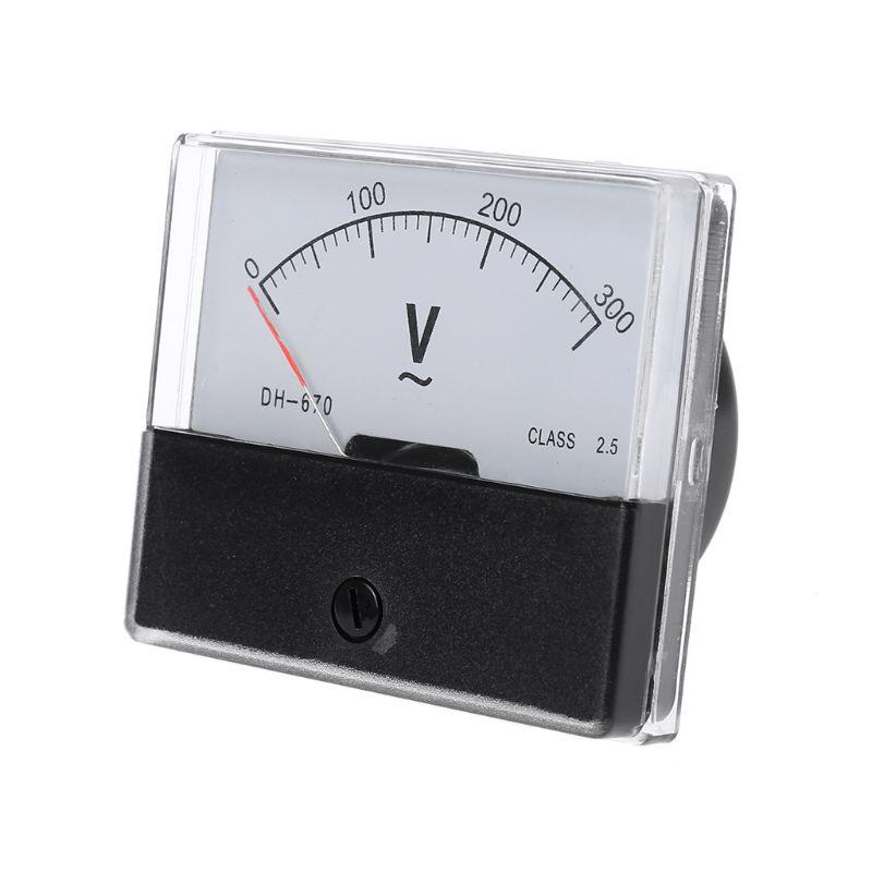 AC 0-300 в аналоговый Панель вольтметр DH-670 Напряжение датчик Панель вольтметр U4LB