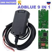 Adblue 9in1 completo chip 9 em 1 caminhões adblue emulador 9in1 adblue emulador caixa adblueobd2 scr & nox caixa funciona euro 4 & 5 ad azul