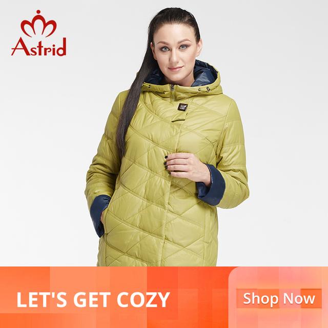 Astrid zima kobieta kurtka dół parki profesjonalne Plus Size marka wiosna kobiety płaszcz duży rozmiar kurtki zimowe duży rozmiar AM- 2682