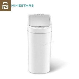 Image 1 - Youpin NINESTARS الذكية حاوية القمامة محس حركة السيارات ختم LED التعريفي غطاء القمامة 7L Ashcan صناديق Ipx3 مقاوم للماء