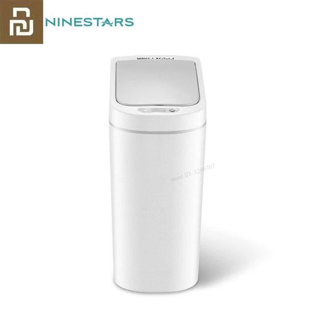 Youpin NINESTARS الذكية حاوية القمامة محس حركة السيارات ختم LED التعريفي غطاء القمامة 7L Ashcan صناديق Ipx3 مقاوم للماء