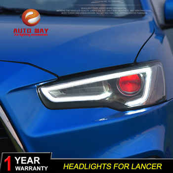 Car Styling Head Lamp case for Mitsubishi Lancer Headlight 2009-2016 Sentra LED Headlights DRL H7 D2H Hid Option Bi Xenon Beam - DISCOUNT ITEM  26 OFF Automobiles & Motorcycles