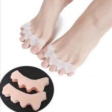 1 пара ног кость большого пальца коррекция регулятор ортопедические товары valgus корректор носок разделитель педикюр коррекция стопы выпрямитель