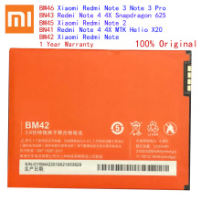 Original BM45 BM46 BM42 BN41 BN43 Battery For Xiaomi Redmi Note 4 4X 3 2 Note2 Note3 Note4 Replacement Mobile Phone Bateria