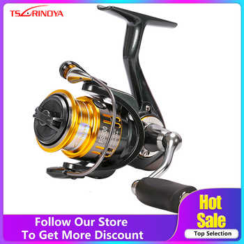 Tsurinoya FS 800 1000 2000 Ultra Light Carrete Carp Fishing Spinning Reel Surf Bait Agua Dulce Agua Salada Spinning Carretes de Pesca