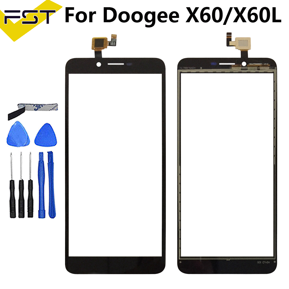 5.5''Black Touch Screen For Doogee X60 X60L Perfect Repair Parts Touch Panel Sensor Glass Lens For Doogee X60L Phone+Tools