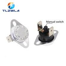 1 pçs ksd301 ksd303 10a 45 150 c graus celsius termostato de redefinição manual normalmente fechado interruptor temperatura controle temperatura