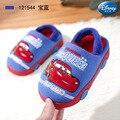 Disney/Детские хлопковые тапочки; Новинка 2019 года; зимняя теплая хлопковая обувь для мальчиков; детская мультяшная машина
