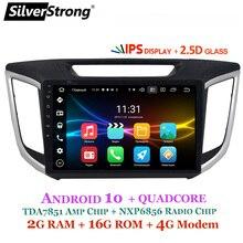 Silver strong IPS 2.5D Android10.0 Creta Radio 2din GPS para Hyundai IX25 Creta 10,1 pulgadas 4G módem DSP navegación opcional ESTÉREO