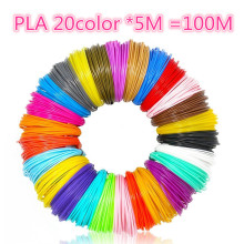 цена на Platic Filament 3D Printer Pen Filament PLA/ABS 1.75mm 100m in 20 colors Multi-Color Totally for Most 3D Printer and 3D Pen