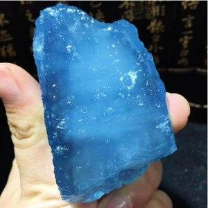 Красивый 100% морской Сапфир, необработанный камень и Натуральный аквамарин, кристаллический рейки, исцеление