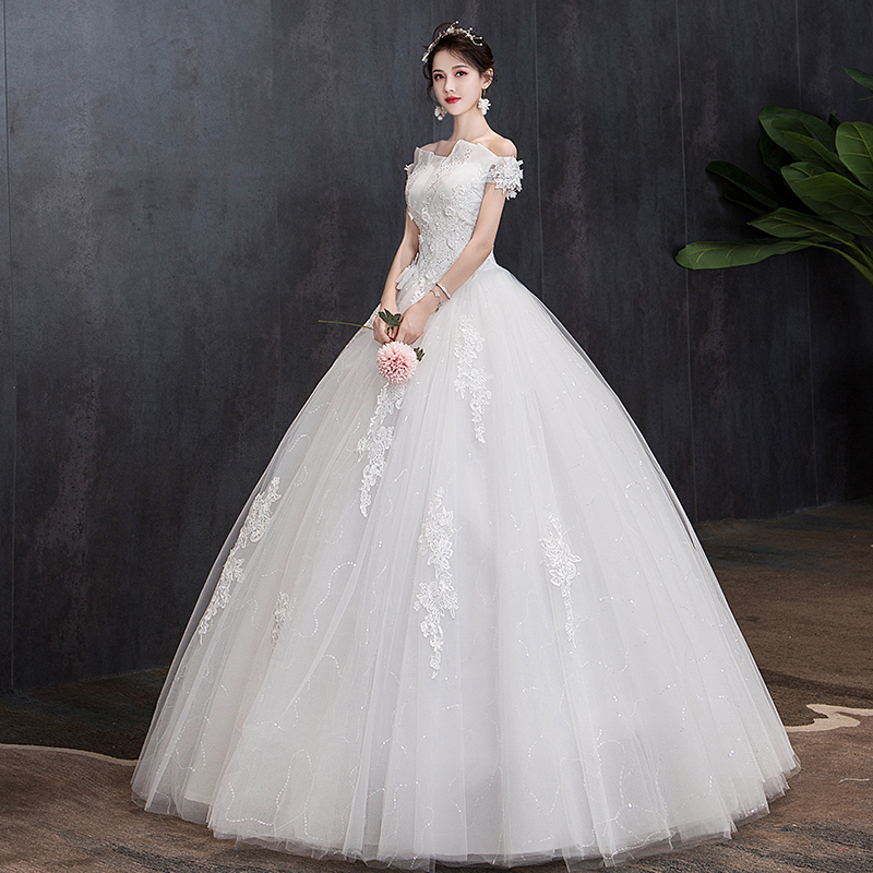 Wedding Dress Lace Up Embroidery Bride Dress Ball Gowns Luxury Wedding Dresses Vestido De Noiva