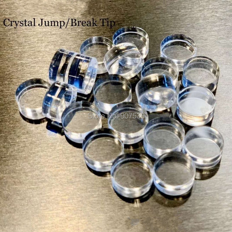 Billiard Crystal Break Jump Cue Tips  14.3mm*7mm Cue Stick Pool Cue Accessories