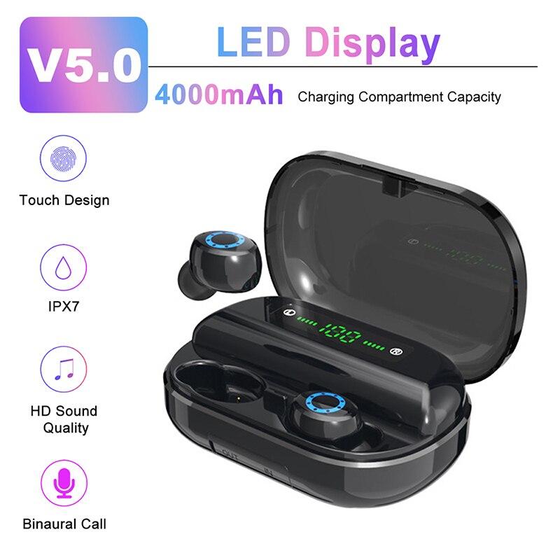 Tkey V12 1 Sports Earphone Bluetooth 5 0 Headset Tws Wireless Earphones Mini Earbuds Stereo Headphones With Digital Display In Bluetooth Earphones Headphones From Consumer Electronics On Aliexpress