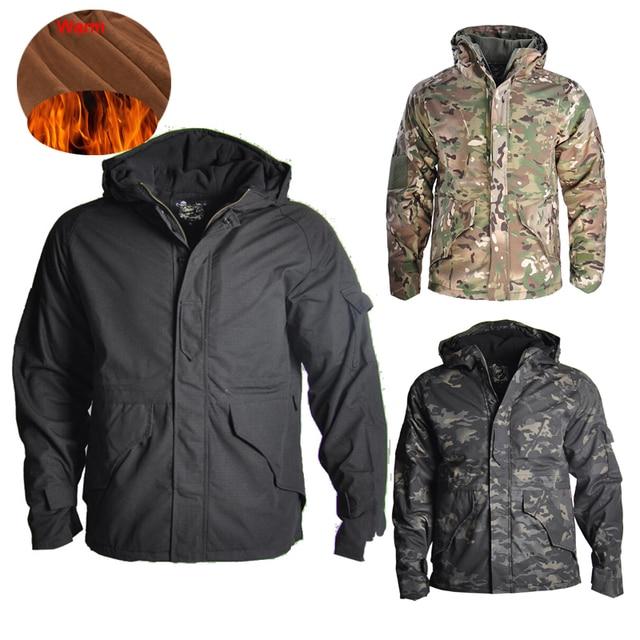 HAN WILD Outdoor Jackets Hiking Jacket Men Fleece Camouflage Hunting Clothes Men Tactical Military Uniform Windproof Windbreaker 6