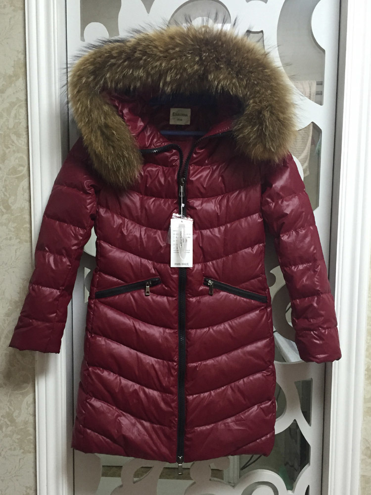 Jacket Down Women's Korean Large Fur Collar Down Coat Winter Parka Long Womens Coats And Jackets Doudoune Femme KJ1057 S S