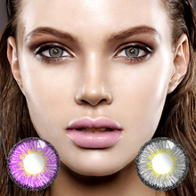 2 pcs/pair Mrs.H Ice And Snow Series Color Crystal Clear Contact Lenses One Year Throw Lens Comfortable Dry Eyes