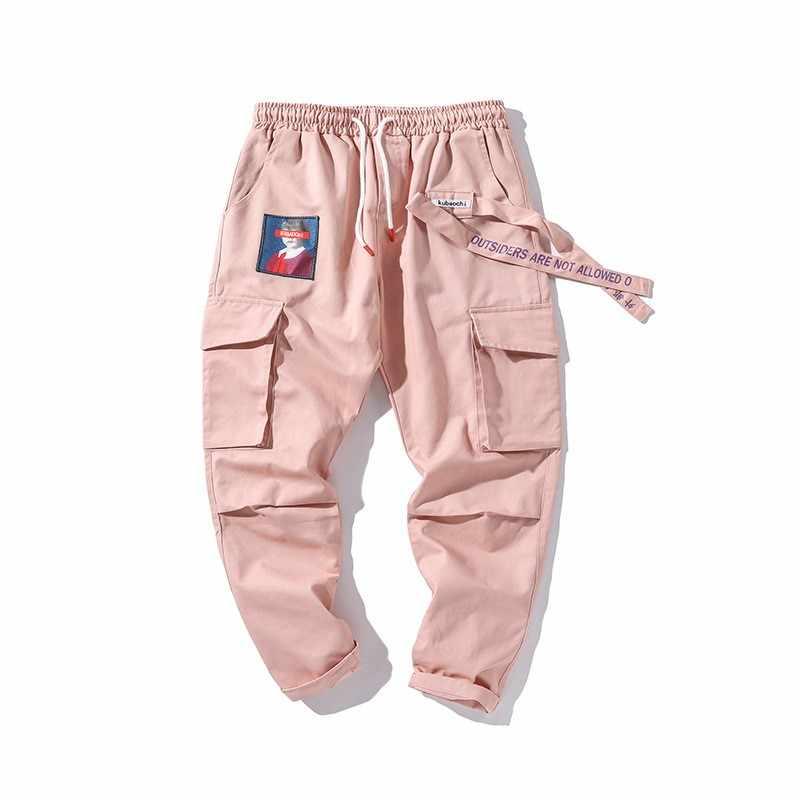 Молодежные Брюки карго на шнурке повседневные Модные с карманами для молодых