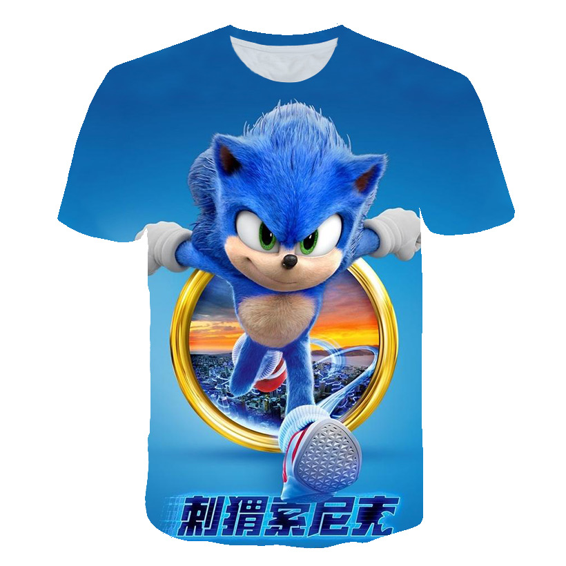 3D Boys Mario Super Sonic Print Girls Clothes Summer Funny T-shirts Children Clothing Costume Baby T Shirt Kids Camisetas Street