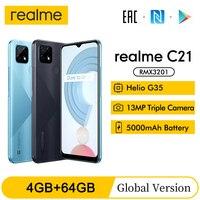 "Global Version realme C21 6.5"" 3/4GB 32/64GB Smartphone 13MP AI Triple Camera Helio G35 Octa Core 5000mAh battery Mobile Phone 1"